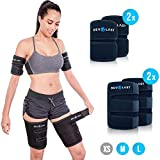 Revolast Arms and Thigh Trimmers for Weight Loss - Arm Wraps - Arm Sweat Bands for Women and Men - Arm and Thighs Sleeve - Sweat Shapers - Arm Slimmers Lose Arm Fat