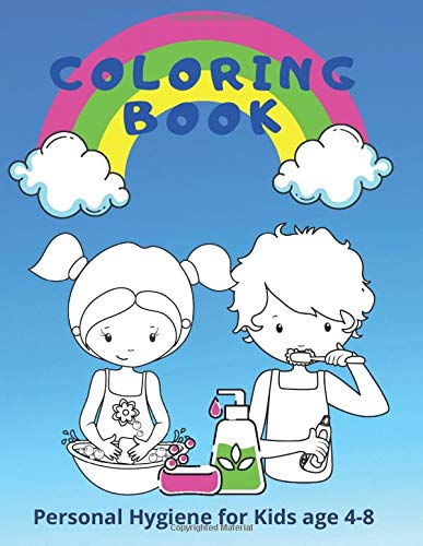 Coloring Book: Personal Hygiene for Kids age 4-8