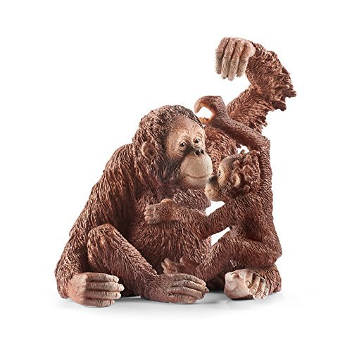 Schleich Wild Life - Orang-Utan Familie - 14775 Weibchen u. 14776 Junges