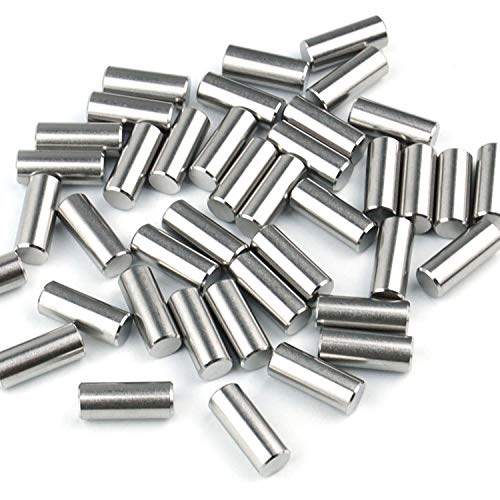 40Pcs 8mm X 20mm Dowel Pin 304 Stainless Steel Cylindrical Shelf Support Pin Fasten Elements