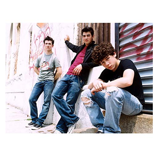 Jonas Brothers Band Urban-Print Silk Art Wall Poster Wall Art Painting Home Decoration Artwork Print on Canvas -60x80CM sin Marco