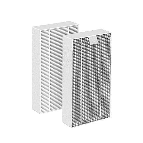 Ausanat Luftreinigerfilter, echter HEPA-Ersatzfilter für AN-A11-03, 1 Satz mit 2 Filtern (2 Packungen)