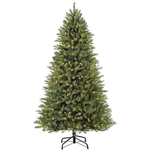 Puleo International 7.5 Foot Pre-Lit Elegant Series Fraser Fir Artificial Christmas Tree with...