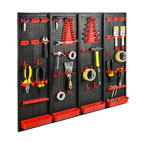 Werkzeugwand Halterung Werkzeug 100 x 80 cm Lochwand endlos erweiterbar Halter