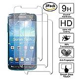 Guran [3-Unidades] Protector de Pantalla Vidrio Cristal Templado para Samsung Galaxy S4 Active Smartphone Cristal Vidrio Templado Film (9H, 2.5D Edge, 0.3mm)
