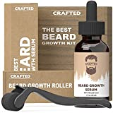 Beard Growth Kit - Hair Growth & Hair Serum - Beard Growth Oil and Beard Roller - Hair Growth for men - Stimulate Beard Growth with our Beard Serum and Growth Roller