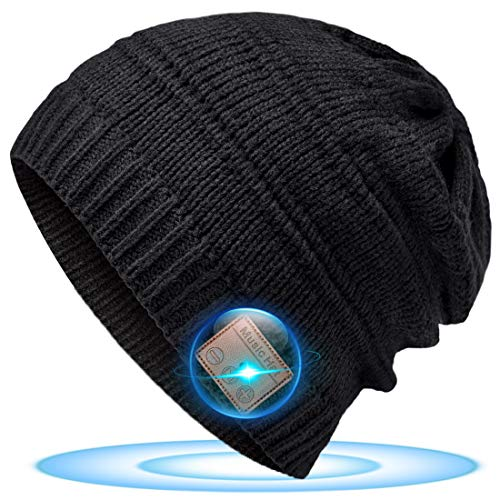 Regali Natale Originali Cappello Bluetooth - Idee Regalo Donna Uomo Beanie Bluetooth Musica Berretto, Idee Regali Natale Uomo/ Donna/ Adolescente/ Ragazza, Cappello Sportivo da Esterno Campeggio Sci