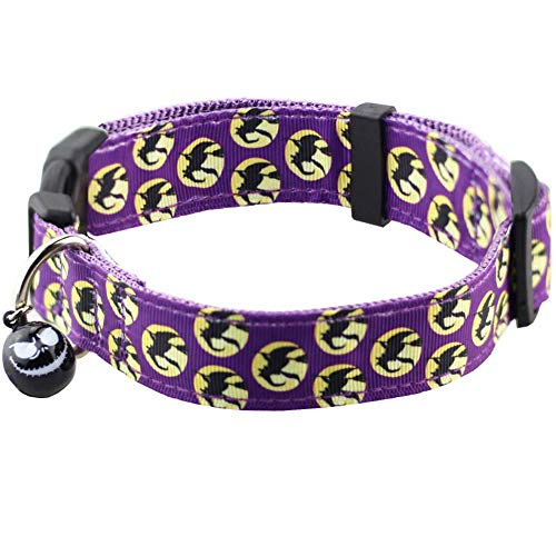 Purple Witches Halloween Collar with Bell