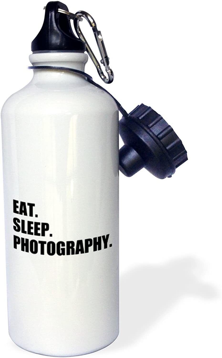 3dpink wb_180428_1 Eat Sleep Piano  Gift for Pianist Playing Musicians Music Black Text  Sports Water Bottle, 21oz