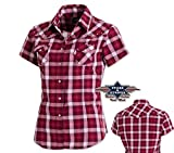 Country Western Bluse 'Doreen' Gr. M - Sexy Stars & Stripes - Kurzarmbluse Wild West Line Dance Kleidung