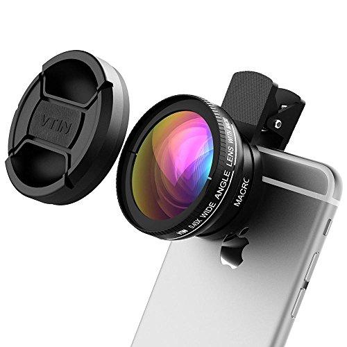Victsing® 2in 1clip-on 0.45x super grandangolo + 10x super macro obiettivo staccabile HD professionale durevole kit obiettivo per iPhone se/7/6/6S/6Plus/6s Plus/5Samsung Huawei e altri smartphone