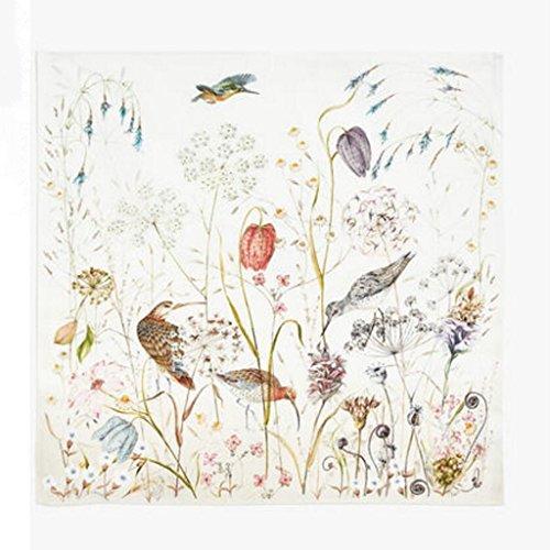 MXJ61 Nightingale imprimant le tissu de bouche de tissu de serviette 45 * 45cm 4pcs / ensemble
