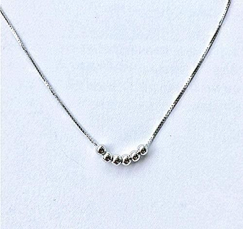 BACKZY MXJP Collar Simple Generous Chic Clavícula Collar De Cadena Collar De Cuentas para Mujer Regalo