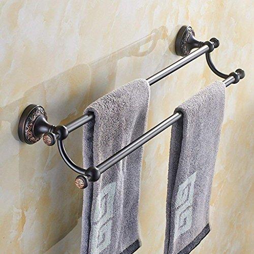 DSJ Handdoek Rack Antiek Handdoek Rack Volledige Koper Handdoek Bar Dubbele Paal Badkamer Hardware Hanger Badkamer Handdoek Ophangen