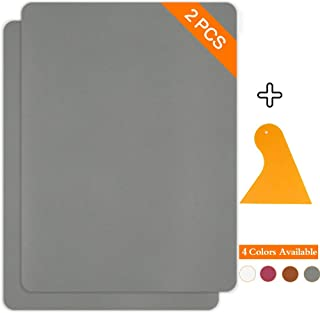 Leather Repair Patch Kits for Car Seats Couches and Elbow 2 Pieces Self-Adhesive Patch for Leather and Vinyl Repair, 8× 11inch Leather Sofa Repair Kits(Gray)