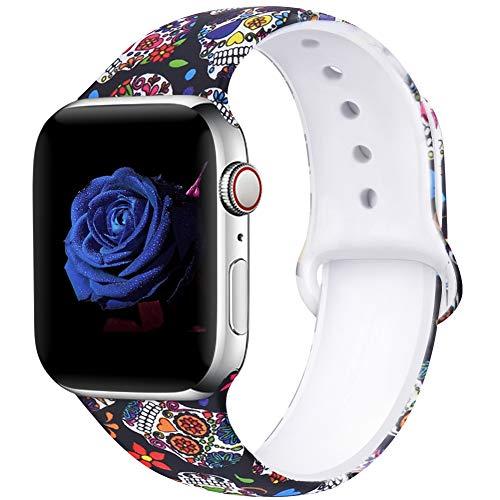 EXCHAR Leopard Print Apple Watch Strap