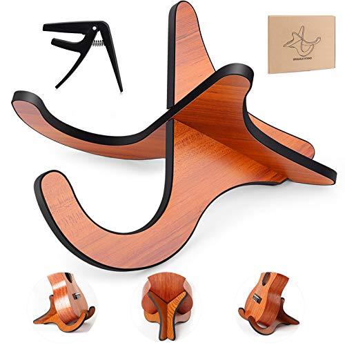 Ukulele Ständer Holz Gitarrenständer,Abnehmbarer Musikinstrument-Ständermit Schwammmatte Hölzerne Ukulele Violine Ständer Halter für Akustik Klassische Elektrische Gitarren Bass