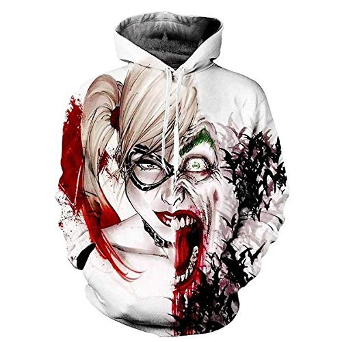 Suicide Squad Joker 3D Hoodies Sweatshirts Men Brand Tracksuits Printed Pullover Hooded Coat Funny Pullover -Picture_Color_Size_XL