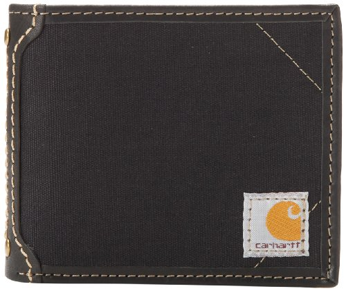 Carhartt Men's Billfold Wallet, Canvas - Black, One Size