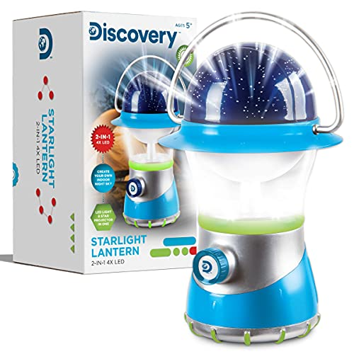 Discovery Kids Starlight Lantern ~ 2-IN-1 4X LED ~ LED Light and Star...