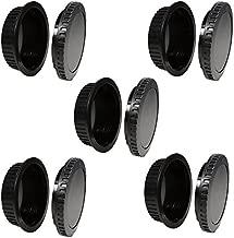 CamDesign 5 Set Camera Body Cap & Lens Cover Cap Canon RF-3 Compatible with Canon EOS 6D Mark II 5D Mark IV III II 5DS 5DR Mark II 77D 6D 7D 80D 70D 60D SL1 T7i T6s T6i T5i T4i T3i T2i T1i XSi XT XTi