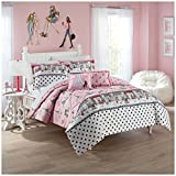 WAVERLY Kids Ooh La Reversible Bedding Collection, Twin, Multicolor