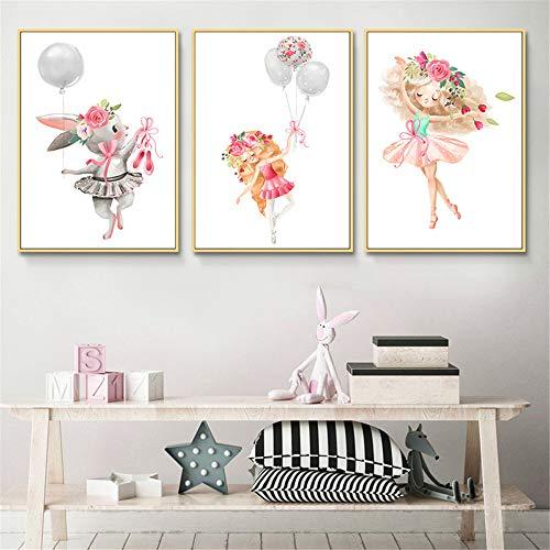 Martin Kench 3er Set Poster Bilder Kinderzimmer - Deko Junge Mädchen - Wandbilder Babyzimmer (Stil 1,30 * 40cm)
