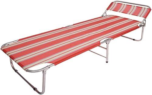 Ultraléger Portative Lit de camping pour adultes Lit de camping portatif léger Lit de camping pliant compact, parfait pour le camp de base, la randonnée et la chasse flexible (Couleur   Rouge)