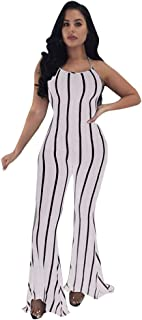 Striped Casual Rompers Women Jumpsuit Loose Wide Leg Pants Long Playsuits Overalls Suspenders Trousers nanzhushangmao Accessories