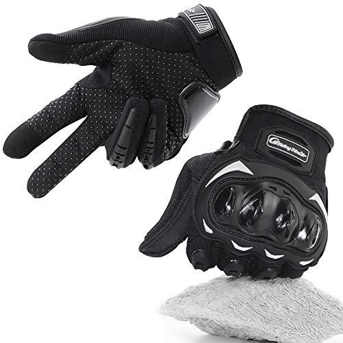 COFIT Motorrad Handschuhe, Touchscreen Motorradhandschuhe für Motorradrennen, Mountainbike, Motorcross, Klettern, Wandern und andere Outdoor-Sportarten und Aktivitäten - Schwarz M