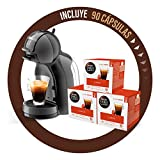 Pack Krups Dolce Gusto Mini Me KP1208 - Cafetera de cápsulas, 15 bares de presión, color negro y...