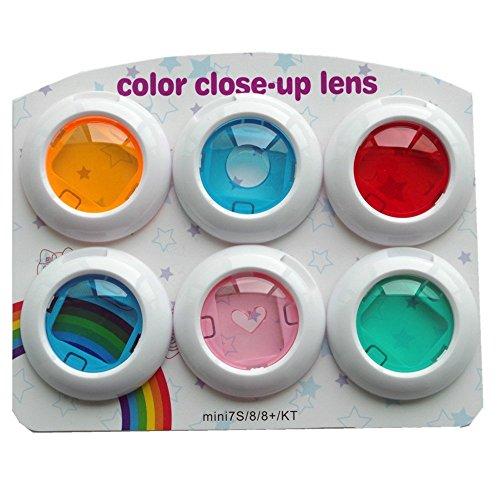 HAFOKO Mini Close Up Color Set di filtri colorati compatibile per Film Instax Mini 8/8 + / 9 Fotocamera istantanea, 6 pezzi