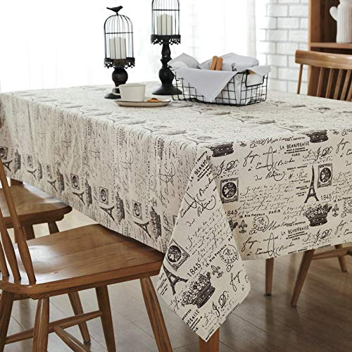 Rectangle Table Cloth,Nostalgic Newspaper Tablecloth, Rectangular Washable Tablecloth, Dustproof Table Cover For Home Hotel