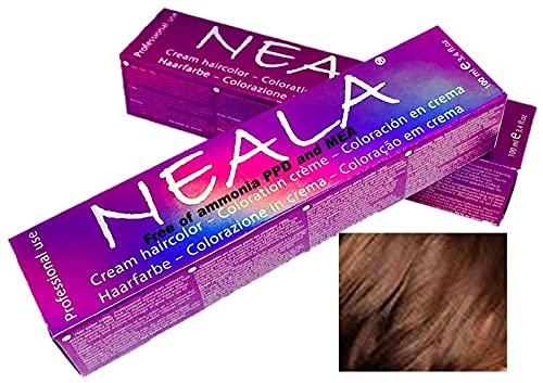Professionele kleuring haarkleur zonder ammoniak en vrij van PPD en MEA - 6.07 - Warm donkerblond - NEALA 100 ml.