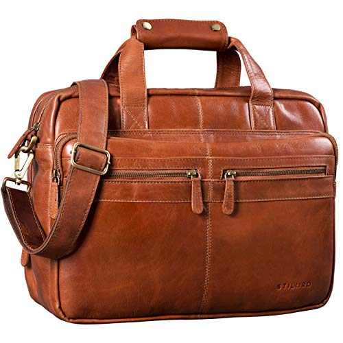 STILORD 'Explorer' Cartable de Professeur Cuir Sac...
