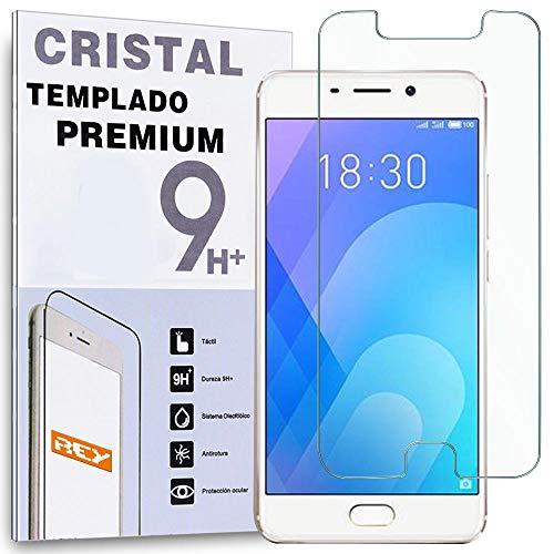 REY Protector de Pantalla para MEIZU Note 3 / M3 Note 5.5', Cristal Vidrio Templado Premium