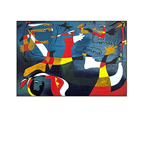 Joan Miró De La Lona Salon De Decoracion Marco De La Abstracto óLeo Pintura Abstracto Impresiones Abstracto Pared Arte Joan Miró Poster Inicio Cuadros 60x80cm No Famosos