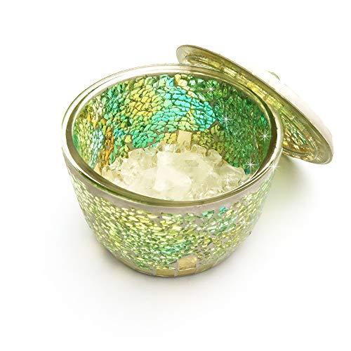 浄化セット キャニスター リフレッシュセット(水晶さざれ・水晶ポイント・キャニスター)パワーストーン 浄化 (グリーン・ゴールド)