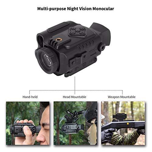Hao Multi-Funtional Night Vision 850NM 200 m Scope Night Infrared Riflescope Auto IR Casco Scouting Wild Caccia Binoculare Drop Ship