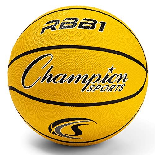 Champion Sports Rubber Official Basketball, Heavy Duty - Pro-Style...