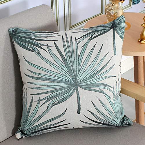 Federa cuscino Federa quadrata jacquard in cotone e lino tinto in filo 1~4 pezzi federa decorativa per divano da soggiorno in fibra ultra dettagliata senza anima