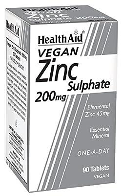 HealthAid Zinc Sulphate 200mg - 90 Tablets