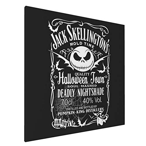20X20 inch Jack Skellington Daniel's Canvas Wall Art Painting Frameless Drawing Poster Picture for Living Room Bedroom Home Decor