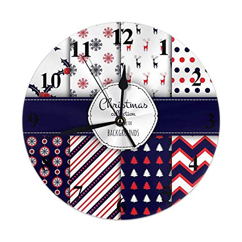 Reloj Pared Redondo Decorativo silencioso,Cuarzo Calidad Requiere 1 Pila AA Patrones Bayas...