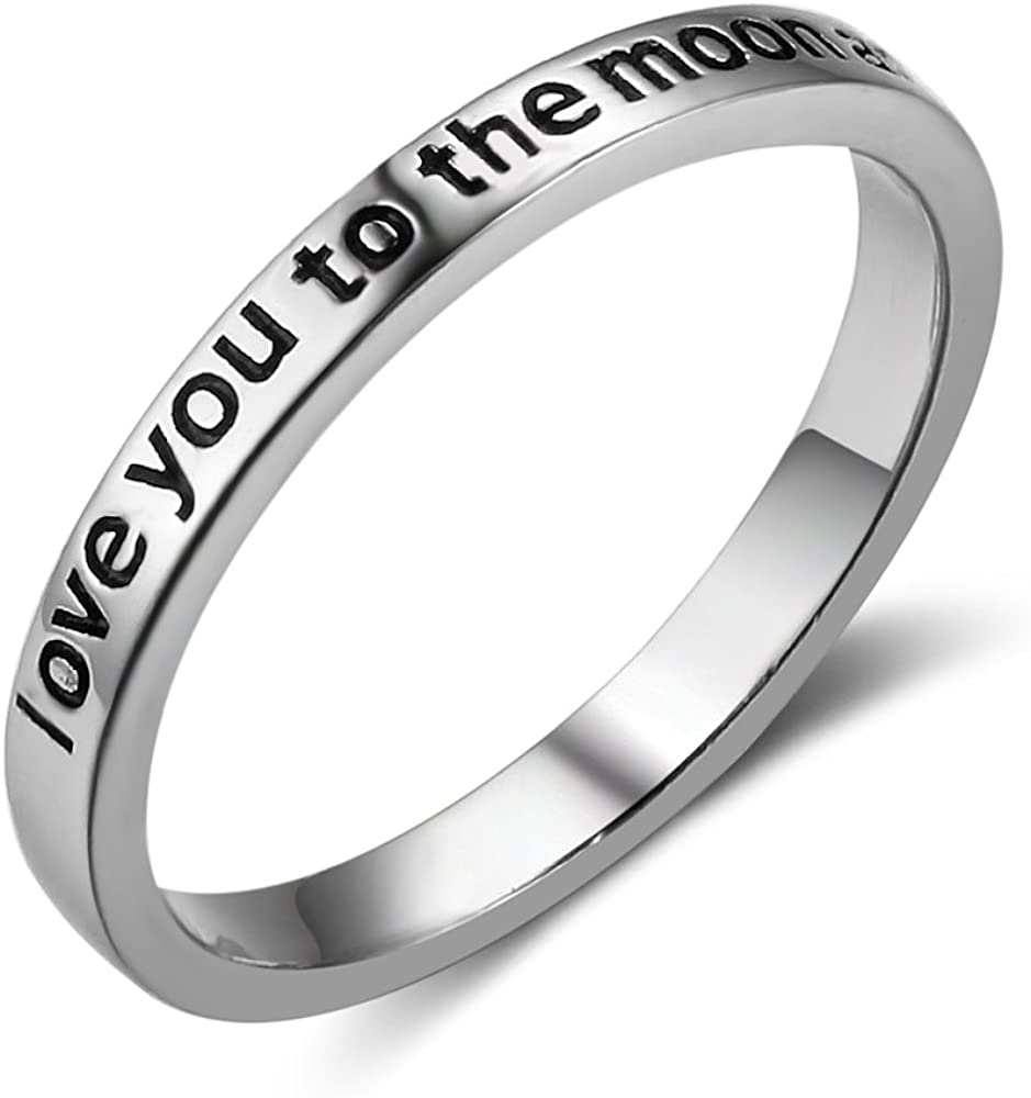 Furious Max 78% OFF Jewelry 925 Sterling Silver 'Love to The Moon and Ba You Regular discount