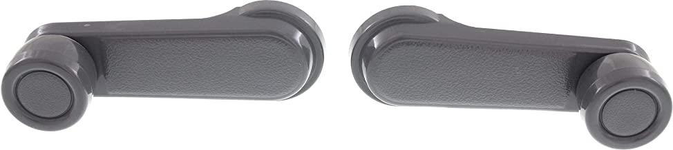 Front/Rear Window Crank Compatible with Nissan P/U 1986-1997 / Frontier 1998-2004 Set of 2 Gray Plastic