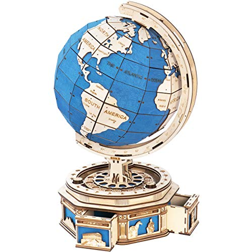 ROKR 3D Puzzles for Adults Wooden Globe Educational Gift School Project