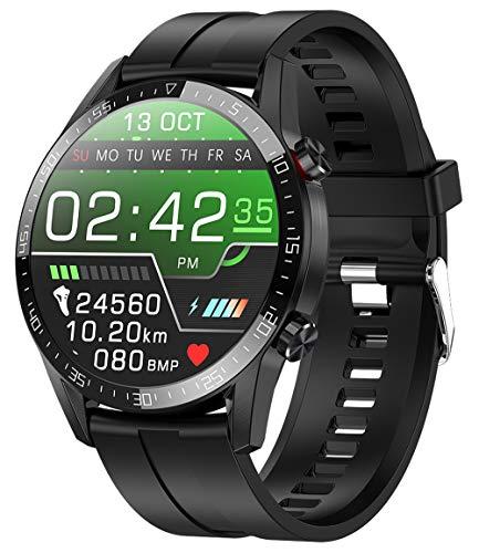 jpantech Smartwatch Reloj Inteligente Mujer Hombre | Llamadas Bluetooth |Pantalla táctil Completa | Monitor de ECG | monitoreo de la frecuencia cardíaca medición de la presión Arterial