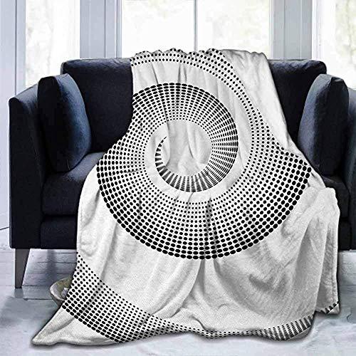 Amanda Walter Courbe dimensionnelle en Spirale des couvertures Spires Qui Tourne Autour d'Un axe Rotatif parallèle à Un Anneau Design Center Image Black for Sofa Canapé-lit