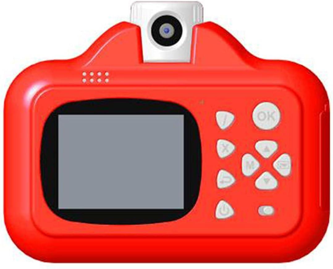 MARSPOWER Cámara de impresión instantánea para niños 1080p WiFi Cámara Digital para niños Transmisión de Aplicaciones Cámara instantánea Juguete para niños - Rojo